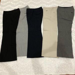 Express Editor dress pants- lot of 5- size 2 short